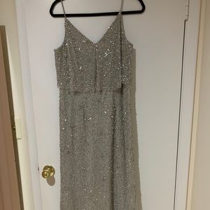 Adrianna Papel embellished full length gown